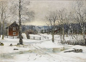 Vinterbild Från Södermanland by Olof HERMELIN