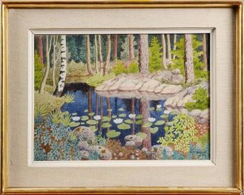 Skogstjärn by Oskar BERGMAN