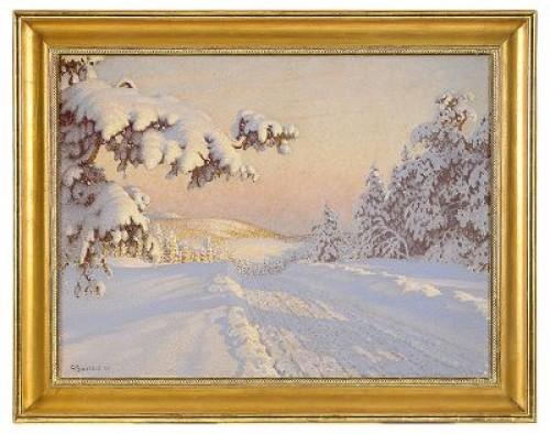 Vinterlandskap - Motiv Från Värmland by Gustaf FJÆSTAD