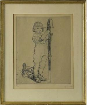 Pojke Med Svärd by Carl LARSSON