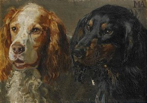 Hundporträtt by Michael ANCHER