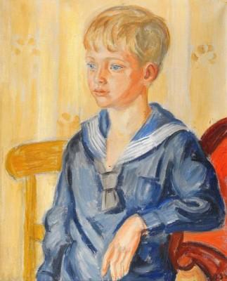 Pojke I Sjömanskostym by Birger SIMONSSON