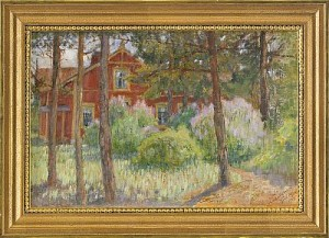 Hus I Skogsglänta by Maria WIIK