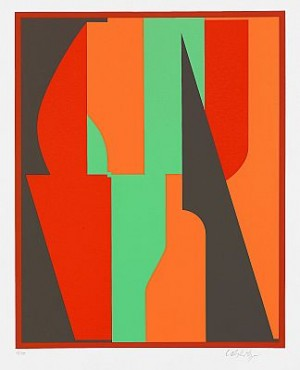 The Complete Set Of 10 Colour Silkscreens by Victor VASARELY