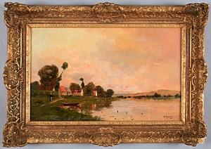 Flodlandskap by Jacques Henri DELPY