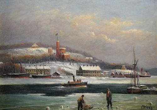 Utsikt Mot Kastellholmen I Vinterskrud - Stockholm by Ernfried WAHLQUIST