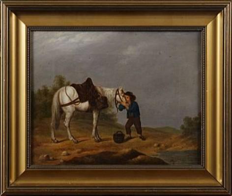 Landska Med Pojke Och Häst by Johan Gustaf LÖFVENGREN