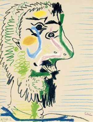 Tête D'homme Barbu by Pablo PICASSO