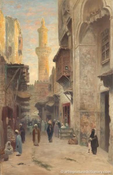 Nordafrikansk Stadsmiljö by Frans Wilhelm ODELMARK