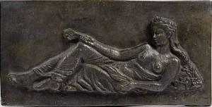 Liggande Kvinna Med Blombukett by Eric GRATE