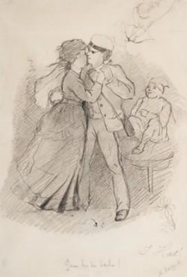 Ganz Bei Der Sache by Albert EDELFELT