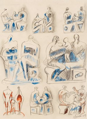 Figursstudier by Henry MOORE