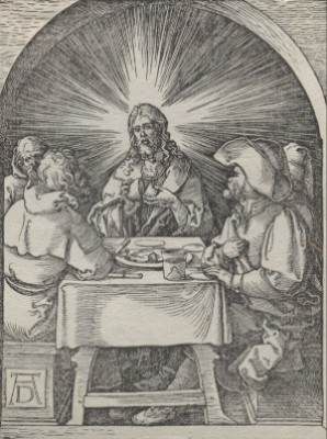 Christ At Emmaus by Albrecht DÜRER