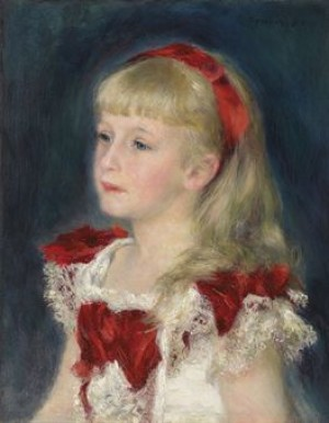 Mademoiselle Grimprel Au Ruban Rouge (hélène Grimprel) by Pierre Auguste RENOIR