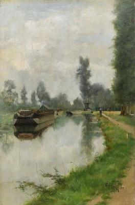 Vid Kanalen - Sommarmotiv Från Grez by Julia BECK