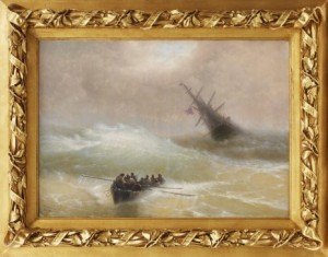 "Storm At Sea. Signed And Dated In Cyrillic ""copy After Aivazovsky by Kozma Andreevich LYSENKO"