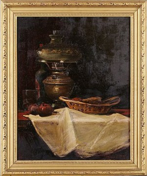 Still Life With A Lamp by Avetik CHITCHIAN