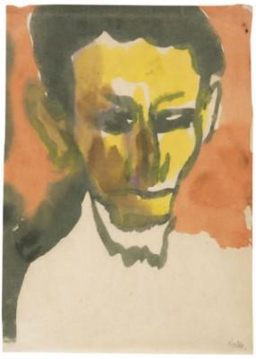 Porträt by Emil NOLDE