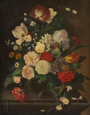 Dutch Flowers by Franz Xaver PIELER