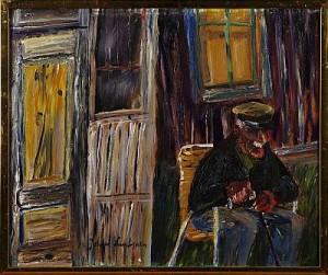 Sittande äldre Man by Johan LUNDGREN