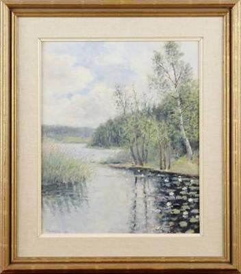 Insjölandskap by Per SUNDBERG