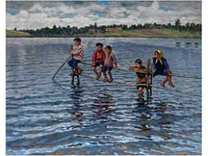 Kinder Am Wasser by Nikolai Petrovich BOGDANOV-BELSKY