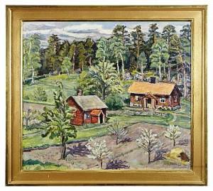 Bondgård I Skogsbryn, Munsö by Olle NORDBERG