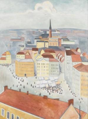 Kornhamnstorg - Stockholm Från Söder by Einar JOLIN