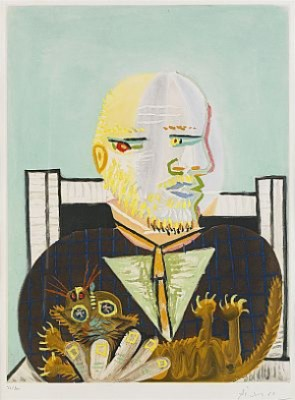 Vollard Et Son Chat by Pablo PICASSO