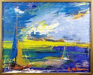 Motiv Med Segelbåtar by Helmut MANTEL
