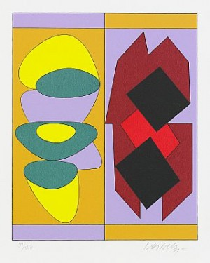 The Complete Portfolio Comprising 7 Colour Silkscreens by Victor VASARELY