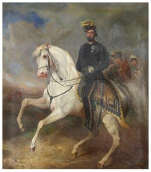 Karl Xv Till Häst (attrib.) by Carl Fredrik KIÖRBOE