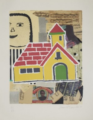 """yellow House"" From The Series ""my Subjects"" by Donald BAECHLER"