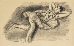 Danseuse étendue Au Divan, Ur Dix Danseuses by Henri MATISSE