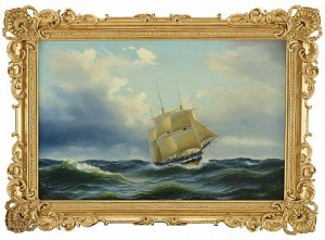 Segelfartyg Till Havs by Arnold Abraham PLAGEMANN