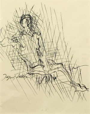 Female Nude Reclining by Jacques VILLON