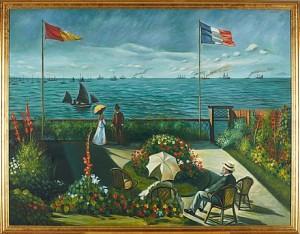 Kopia Efter: Fransk Kust by Claude MONET