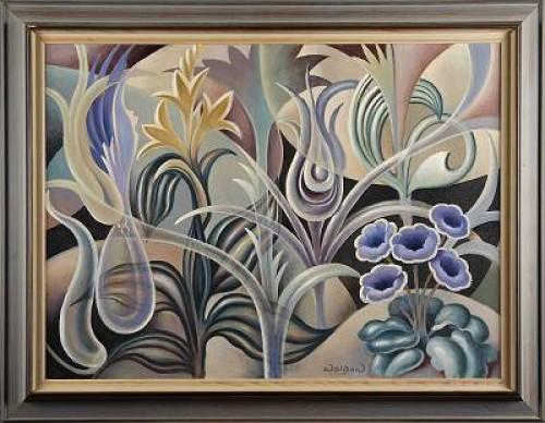 Komposition Med Blommor Och Växter by Harry WALDOW