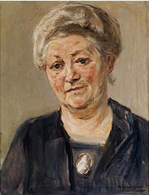 Portrait Einer Alten Dame by Max LIEBERMANN