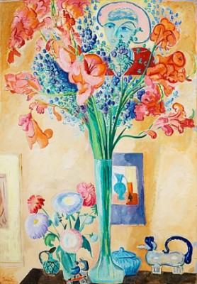 Stilleben Med Gladiolus. by Isaac GRÜNEWALD