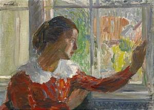 Flickan Vid Fönstret by Hanna PAULI