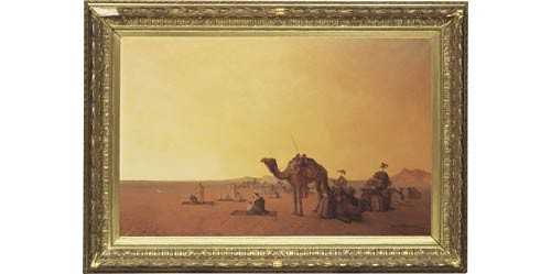 Rastande Beduiner I ökenlandskap by Henrik ANKARCRONA