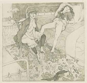 Erotikon. Brussels [but Paris]: N.p.  9 Heliogravures Printed On China Paper In Various Tints, Various Sizes And Formats by Jules PASCIN