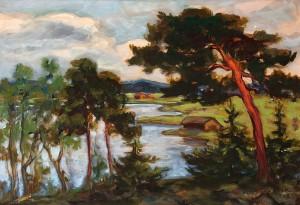 Landskap Med Tallar by Jalmari 'Jali' RUOKOKOSKI