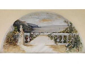 Listlünettenförmige Gemälde by Georges Jules Victor CLAIRIN