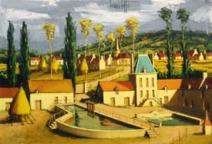 Environs De La Rochepot, Bourgogne by Bernhard BUFFET