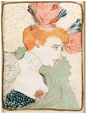 Mademoiselle Lender En Buste by Henri De TOULOUSE-LAUTREC