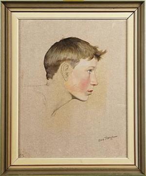 Porträtt Av Ung Man by Owe ZERGE