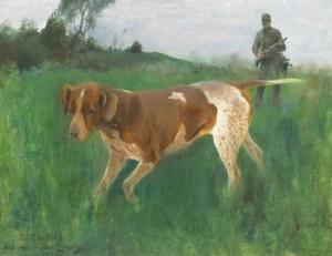 Gustaf Kolthoff På Jakt Med Hund by Bruno LILJEFORS