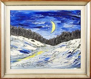 Vinterlandskap I Månsken by Veikko AALTONA